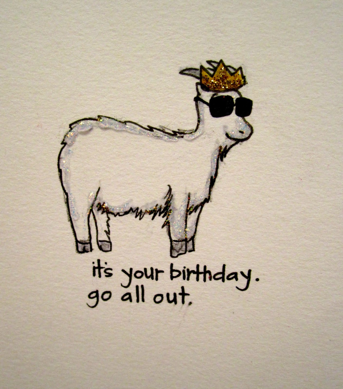 birthday its in the cards – Goat Birthday Card
